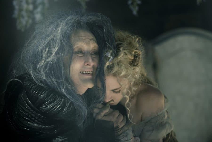 Meryl Streep stars as the Witch and MacKenzie Mauzy as Rapunzel