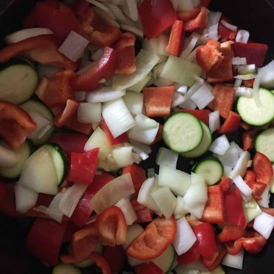 alfresco receipe vegetables in pan