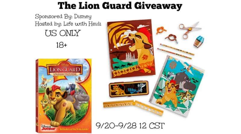 The Lion Guard Giveaway (ends 9/28 12am cst