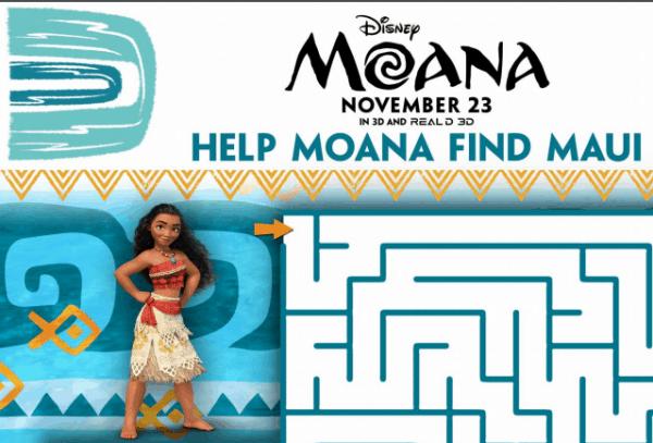 Help Moana find Maui Maze