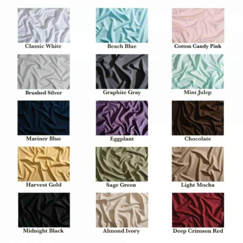 peachskin Sheets colors