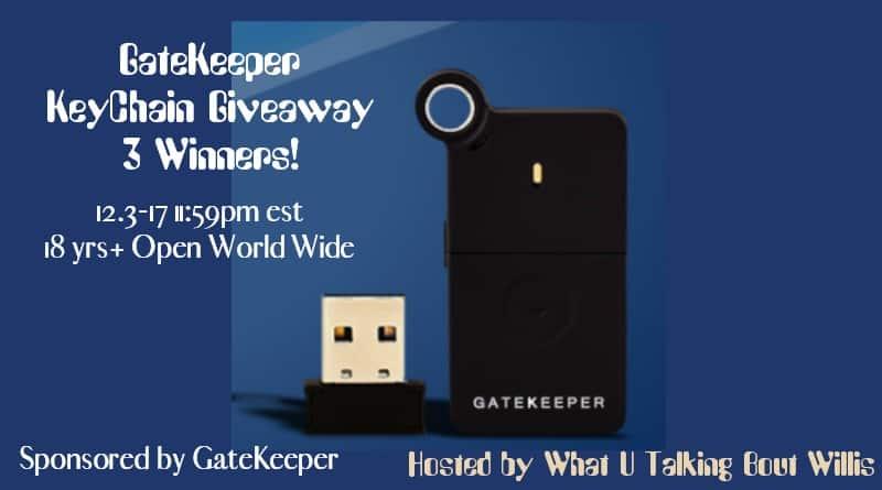 GateKeeper KeyChain Giveaway 3 Winners