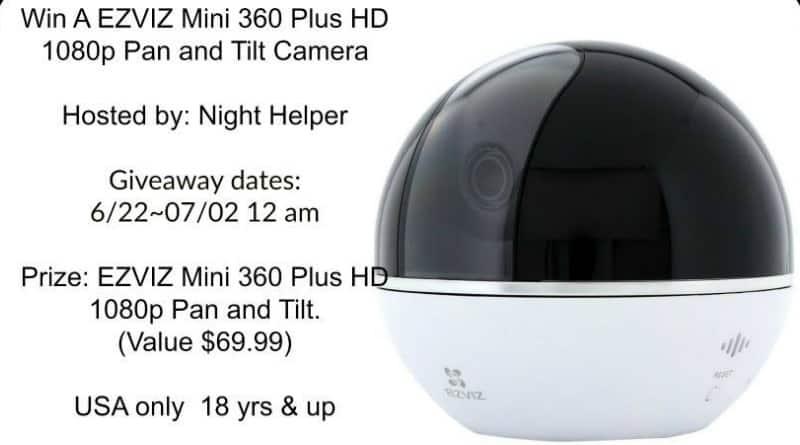 Win a EZVIZ Mini 360 Plus HD 1080p Pan and Tilt Camera