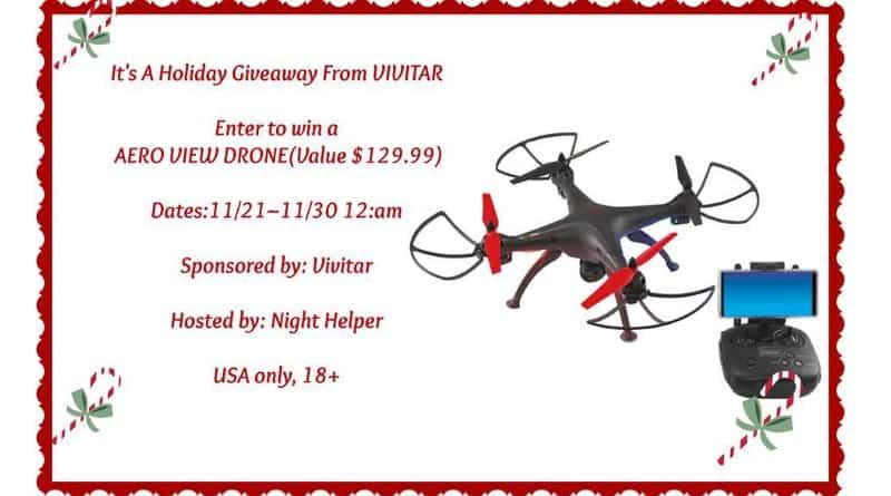 Win a Vivitar Aero View Drone (arv $129.99)